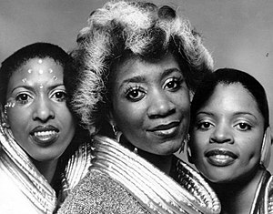 Labelle - Labelle members (left to right, Nona Hendryx, Patti LaBelle and Sarah Dash) in 1975.