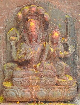 Lakshmi Narayan - Lakshmi Narayan statue at Naksaal, kathmandu