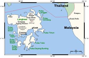 Langkawi map, kedah malaysia