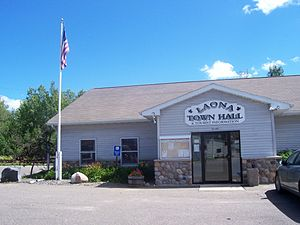 Laona, Wisconsin - Town hall is located in the town center, which is the unincorporated community of Laona