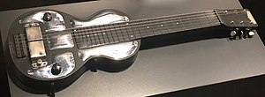 Pedal steel guitar - Rickenbacker lap steel resonator guitar, Electro B6, with Beauchamp horseshoe pickup, late 1930s.