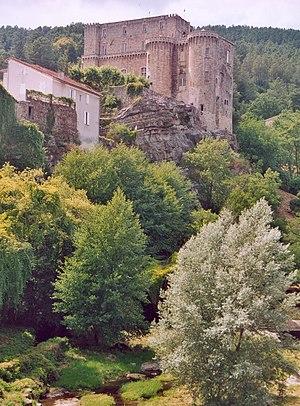 Largentière - The castle in Largentière