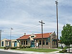 Las Cruces (New Mexico) Railroad Museum, located in a historic Santa Fe Railroad depot at 351 North Mesilla Street. The depot is in the Alameda-Depot Historic District, which is on the National Register of Historic Places, NRIS Item No. 85000786.