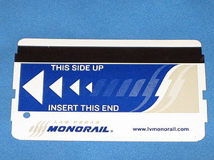 Las Vegas Monorail - Front of Las Vegas Monorail Ticket