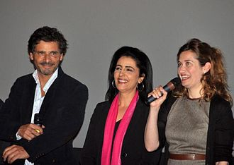 The Other Son - Pascal Elbé, Areen Omari and Emmanuelle Devos at a preview of The Other Son.