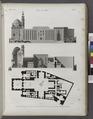 Le Kaire (Cairo). Plan, élévation et coupe longitudinale de la Mosquée de Soultân Hasan (NYPL b14212718-1268744).tiff