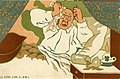 Le Litre D'or I GML 10 card cartoon series showing man retiring after putting his gold dust in a... (NBY 4868).jpg