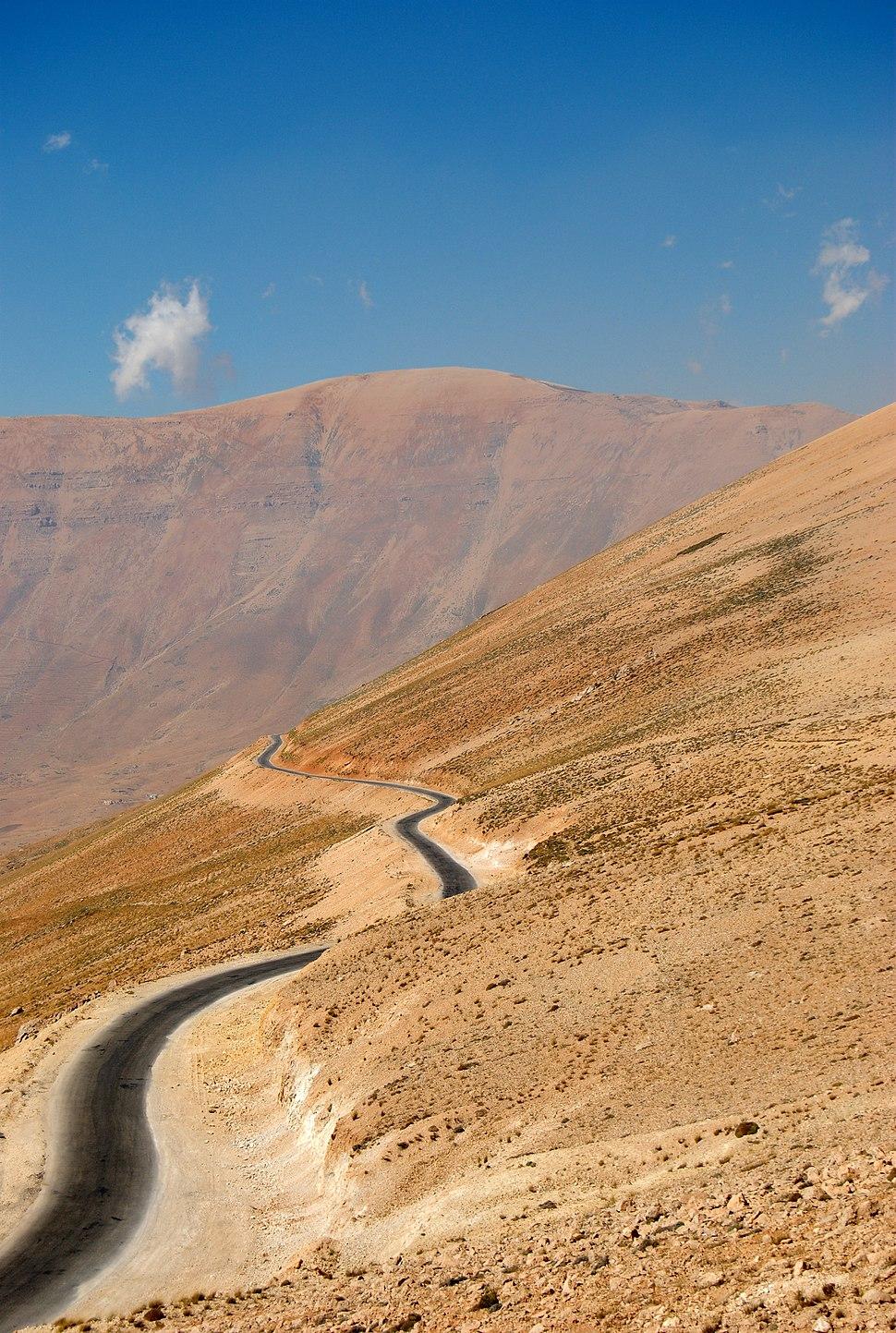Lebanon mountains from near Maqial el Qalaa