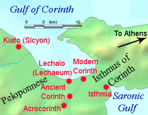 Corinthian War - Corinth and the surrounding territory.