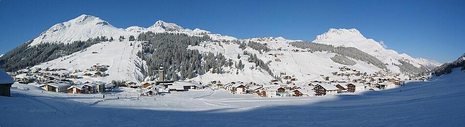 Panorama of Lech am Arlberg.