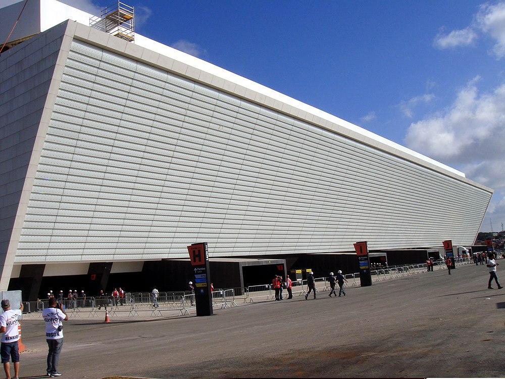14aefaab27 Telão de vídeo LED no lado leste da Arena Corinthians