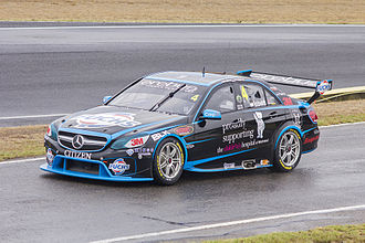 Erebus Motorsport - Mercedes-Benz E63 W212 of Lee Holdsworth at the Sydney Motorsport Park test day in 2014.