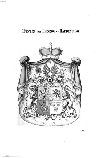 Prince of Leiningen - The princely arms in the mid 19th century