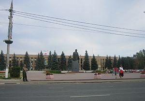Domodedovo (town) - Monument to Vladimir Lenin in Domodedovo