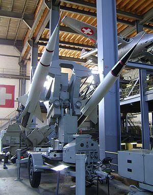 RSD 58 - Image: Lenkwaffensystem RSCD Doppelstartlafette front