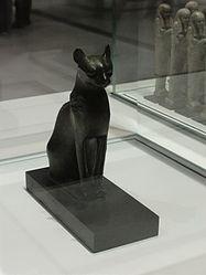 Français: La déesse Bastet sous sa forme de chatte