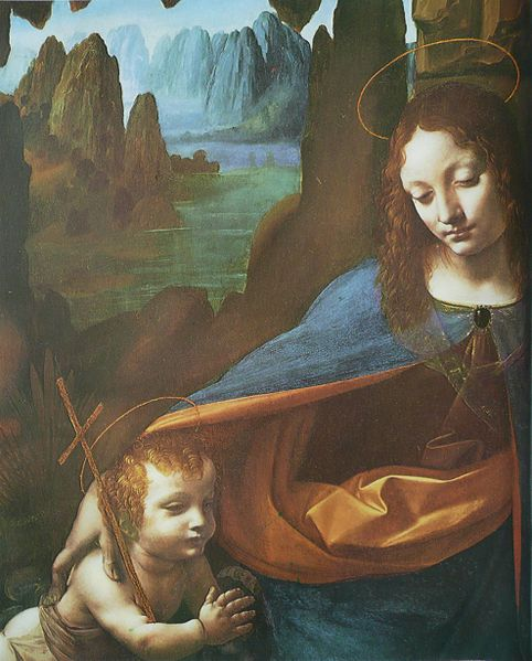 Section from Virgin of the Rocks, painting by Leonardo da Vinci