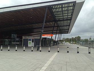 South West Rail Link - Leppington station entrance in February 2015