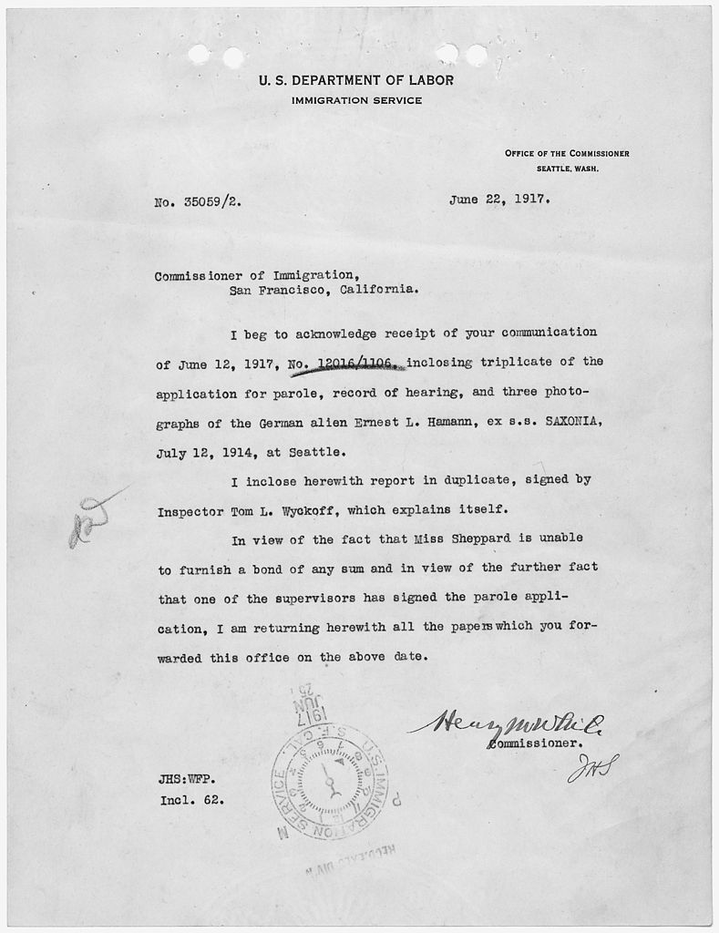 File:Letter from Commissioner General of Immigration to ...