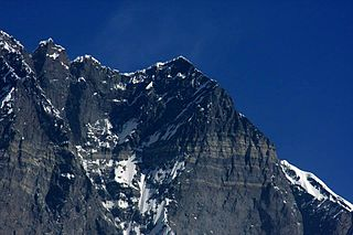 Lhotse Shar mountain in Nepal