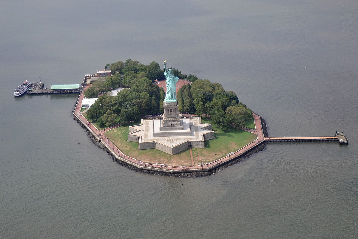 New York Map Liberty Island