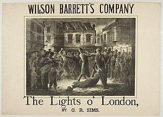 The Lights o' London - Poster for an Edinburgh production, c. 1885