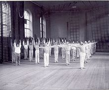 Swedish gymnastics about 1900
