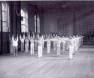 Pehr Henrik Ling - Swedish gymnastics at the Royal Gymnastic Central Institute in Stockholm about 1900