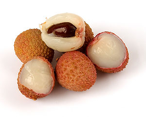 Aroma of wine - A common aroma associated with the grape variety Gewürztraminer is that of lychee fruit.