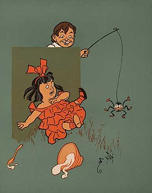 Little Miss Muffet 2 - WW Denslow - Project Gutenberg etext 18546.jpg