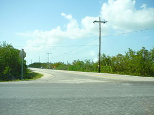 Little Torch Key - The intersection of State Road 4A with US 1 on Little Torch Key