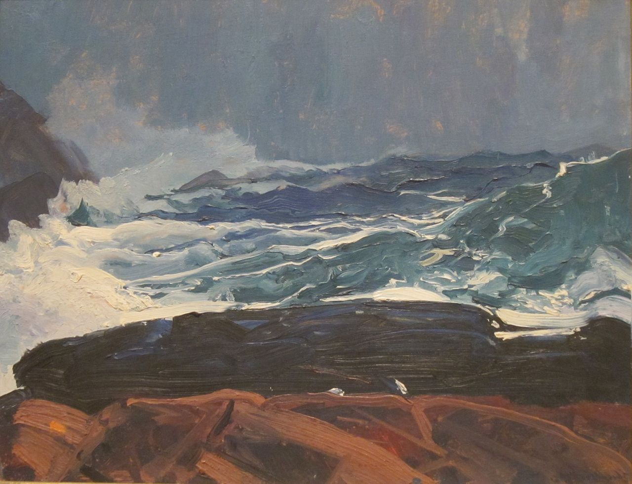 File:Lobster Cove, Monhegan, Maine by George Bellows, San ...
