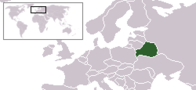 A map showing the location of Belarus