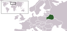 Map  showing Belarus