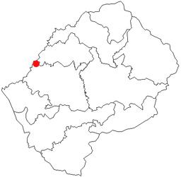 Maserus beliggenhed i Lesotho