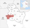 Locator map of Kanton Cœur de Puisaye 2019.png