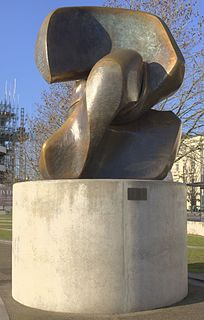 <i>Locking Piece</i> sculpture series by Henry Moore