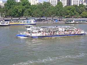 Bateaux London - A panoramic cruise boat at Embankment Pier