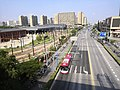 Looking Songjiang University Town rail depot from Metro Line 9 train - 01.jpg