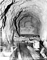Looking down main pressure tunnel from tunnel entrance, November 3, 1924 (SPWS 391).jpg