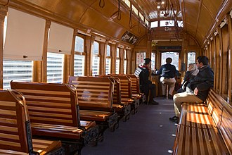 Loop Trolley - Interior of one of the ex-Portland cars