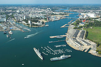 Lorient - Aerial view of the harbour of Lorient