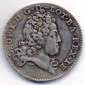 Leopold, Duke of Lorraine - Coin from the reign of Léopold, 1720.