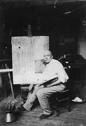 Louis Monzies - Louis Monziès in his workshop