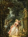 Louis-Roland Trinquesse Lovers in front of a statue of Cupid.jpg