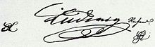 Signature de Louis II
