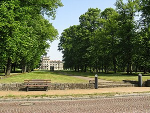 Ludwigslust Palace - The garden front from the axial Hofdamenallee