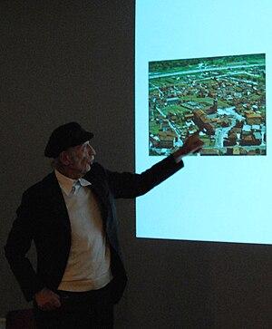 Luigi Snozzi -  Luigi Snozzi presenting his realised project for Monte Carasso in Paris, 14 nov. 2009