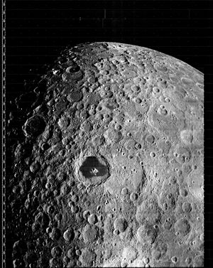 Lunar Orbiter 3 - Lunar Orbiter 3 image of the Moon, enhanced by LOIRP