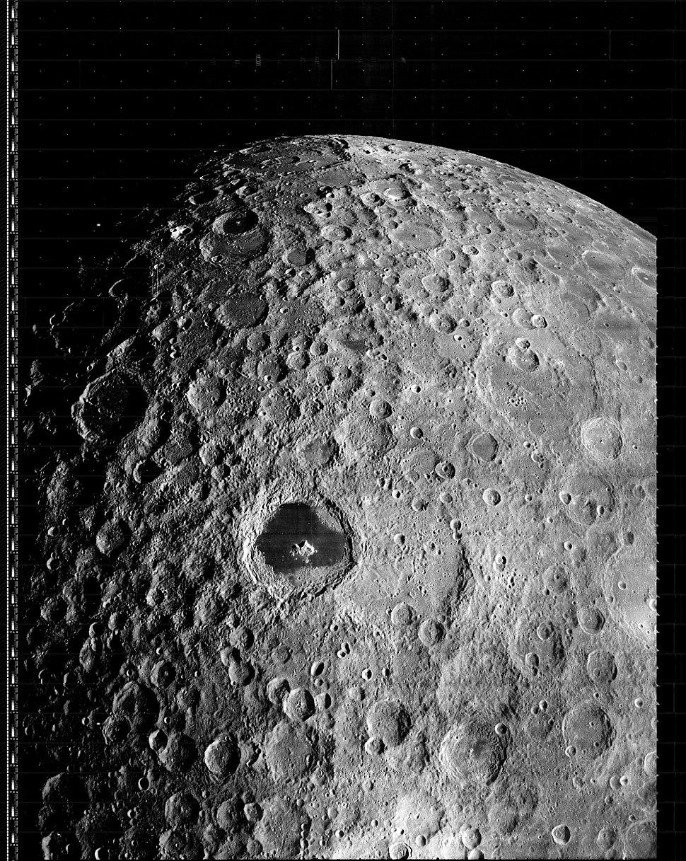 Lunar Orbiter 3 moon image